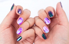 Manicure wykonany za pomocą produktów Sharm Effect od Semilac