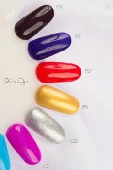 18 kolorowych odcieni Sharm Effect przedstawionych na wzorniku