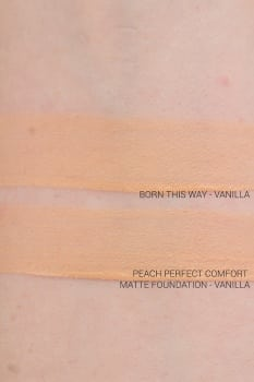 Too Faced Peaches and cream collection Peach Perfect Comfort Matte Foundation Vanilla